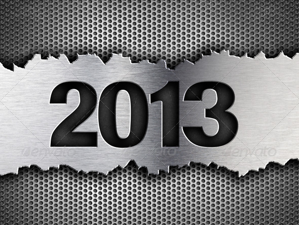 Stock Photography - 2013 new year metal template Photodune 3265141