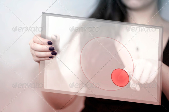 Tablet Red Button - Stock Photo - Images
