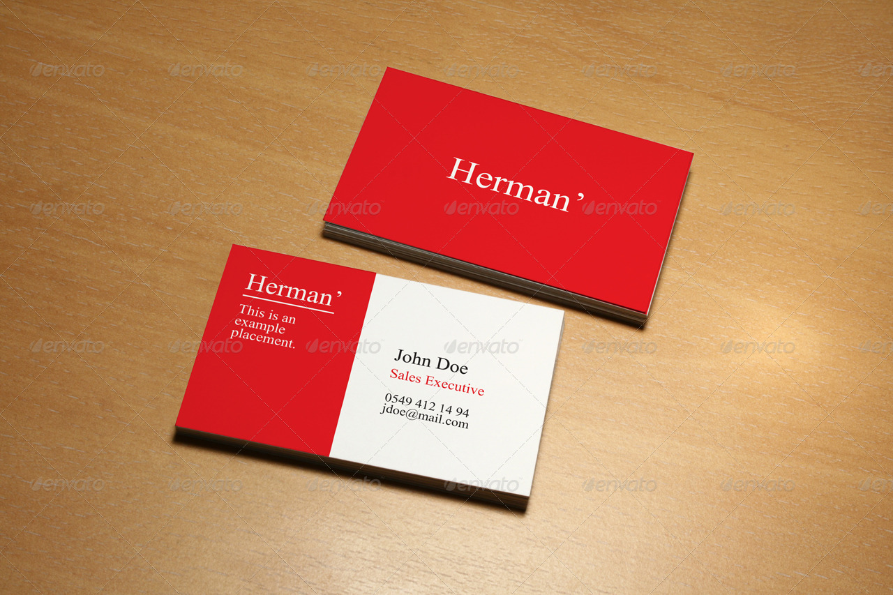 Business Card Mock Up Pack with 6 Different Scenes
