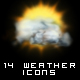 14 Weather Icons - GraphicRiver Item for Sale
