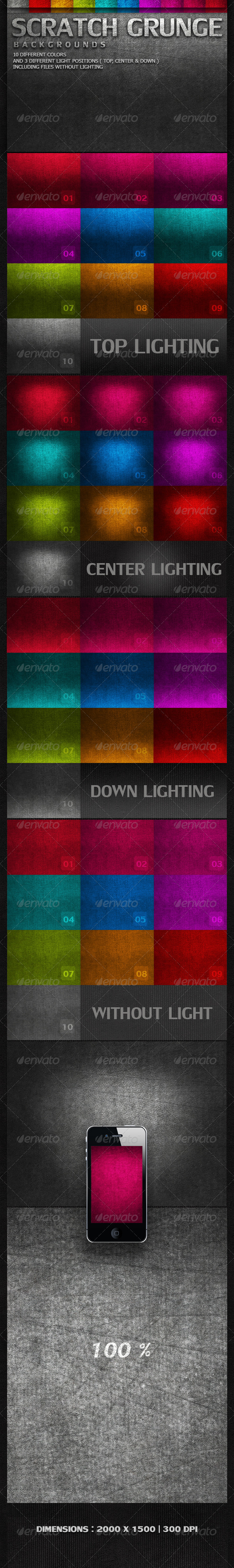 GraphicRiver Scratch Grunge Backgrounds 3267628