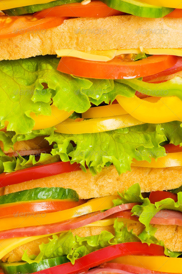 Close up of big sandwich - Stock Photo - Images