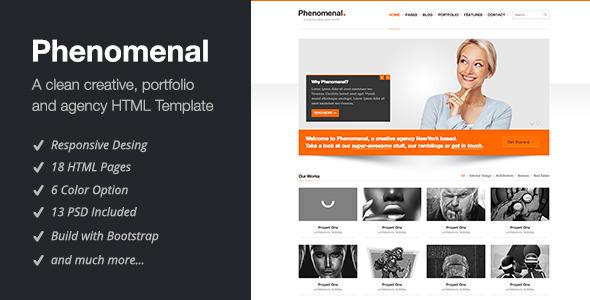 ThemeForest Phenomenal Responsive HTML5 Theme 3053308