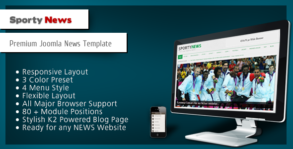 ThemeForest SportyNews Premium Joomla News Template 3227875
