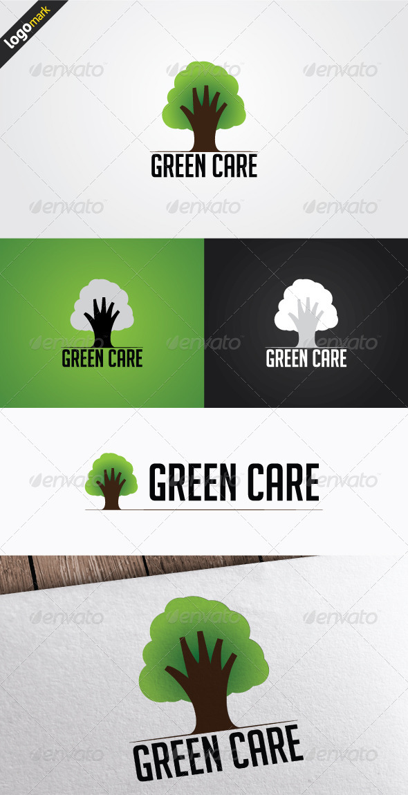 GraphicRiver Green Care Logo 3269534