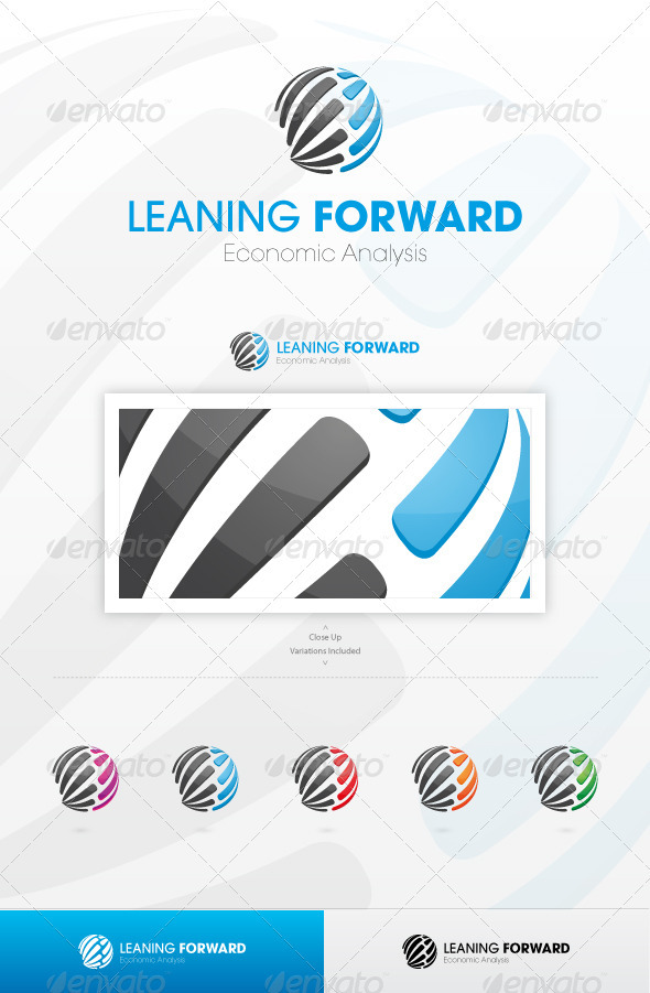 Leaning Forward Logo Template - Vector Abstract