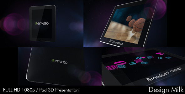 After Effects Project - VideoHive Pad 3D Presentation 339649