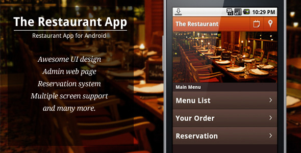The Restaurant App - CodeCanyon Item for Sale