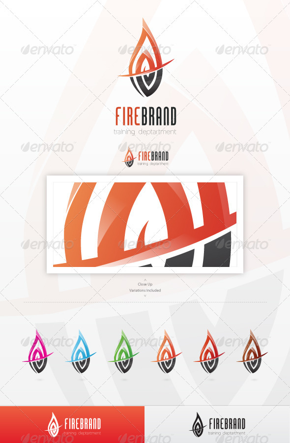 Fire Brand Logo Template - Vector Abstract