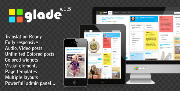Glade Colored Grid Theme - Blog / Magazine WordPress