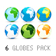 3D Earth Globes: Pack of 6 - GraphicRiver Item for Sale