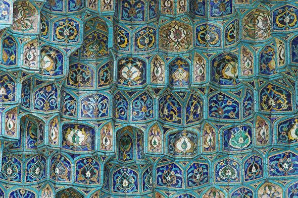 Fragment of a tiled wall - Stock Photo - Images