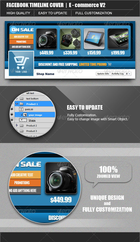 GraphicRiver FB Timeline Cover E-Commerce V2 3271051