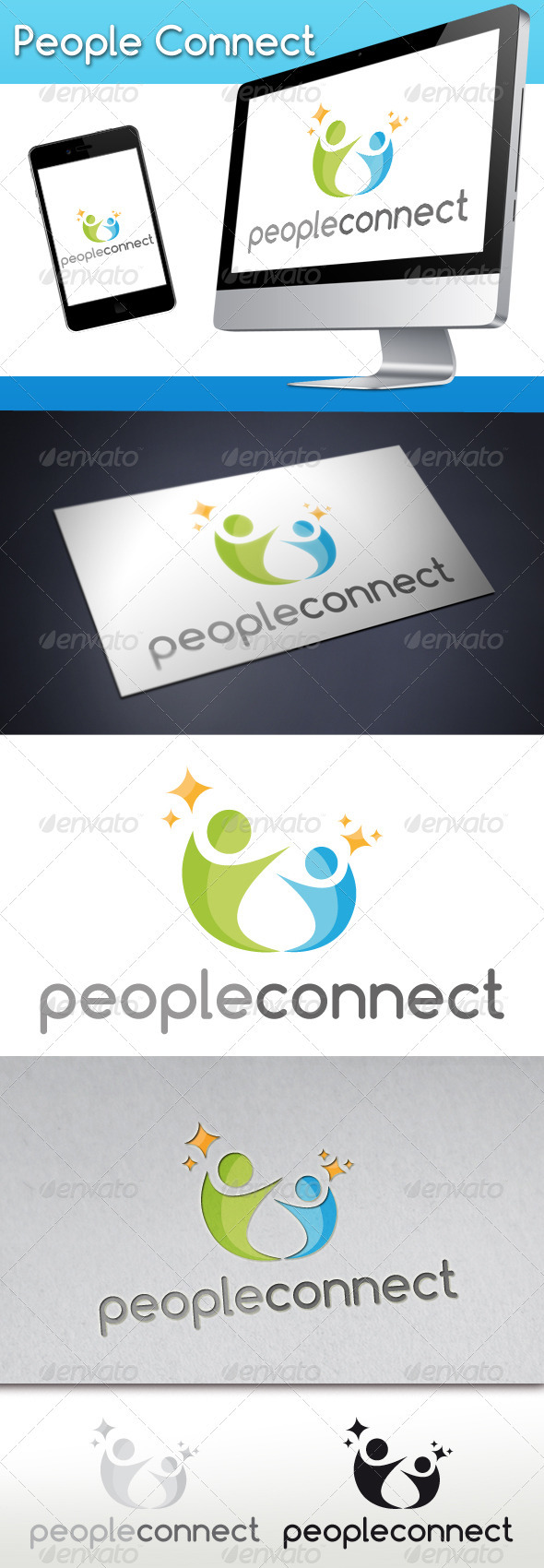 GraphicRiver People Connect Logo 1 3271232