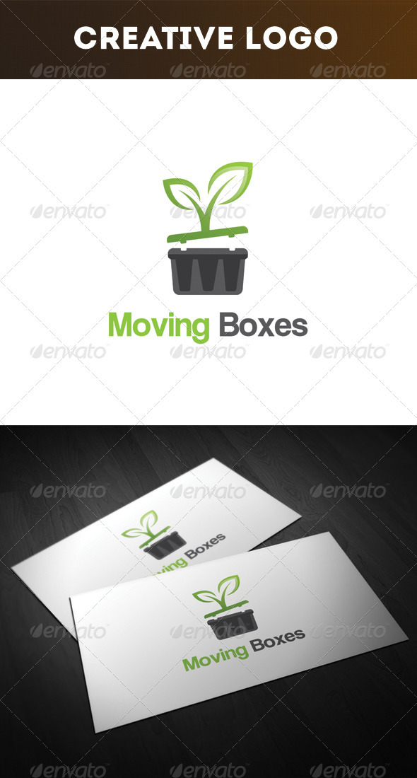 Moving Boxes Logo - Nature Logo Templates