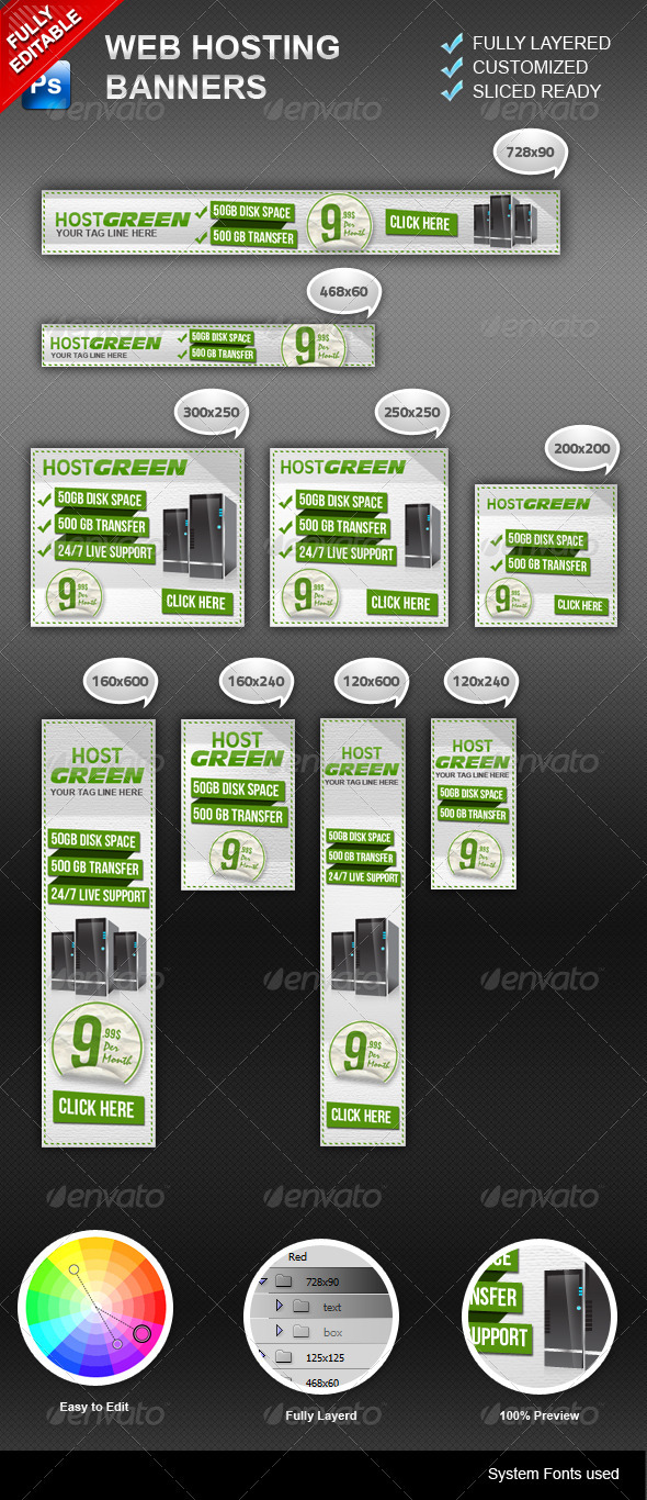 GraphicRiver Banners Hosting 3271806