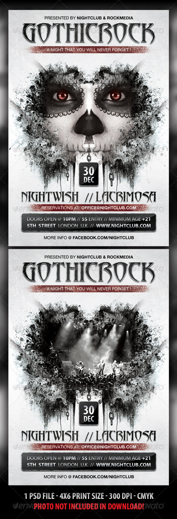GraphicRiver Gothic Rock Concert Party Flyer 3271921