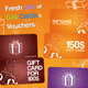 Fresh Set of Gift Cards and Vouchers - GraphicRiver Item for Sale