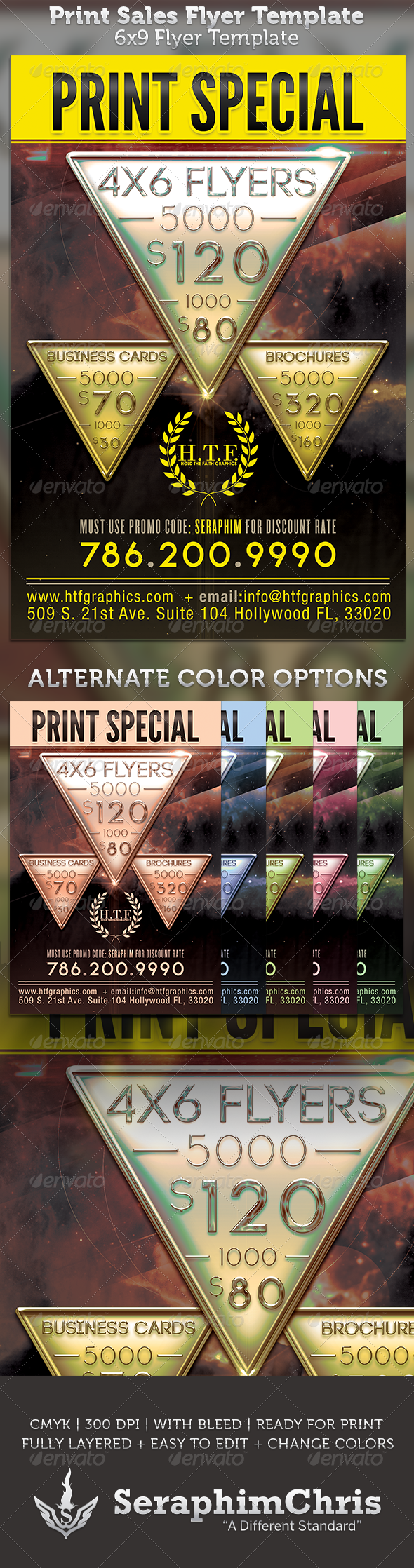 GraphicRiver Printer 6x9 Sales Flyer Template 3272376