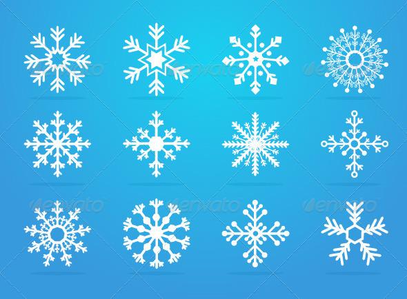 GraphicRiver Snowflakes 3272383