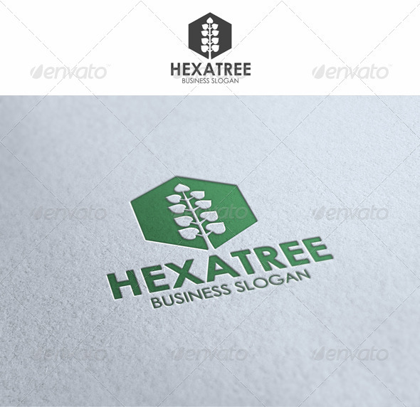 Hexagon Tree - Symbols Logo Templates