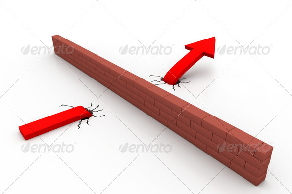 Do not stop arrow - Stock Photo - Images