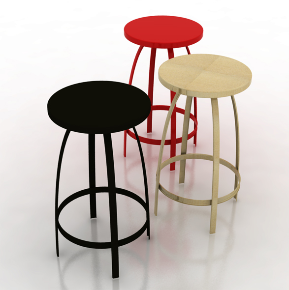3DOcean Bar Stool 114614