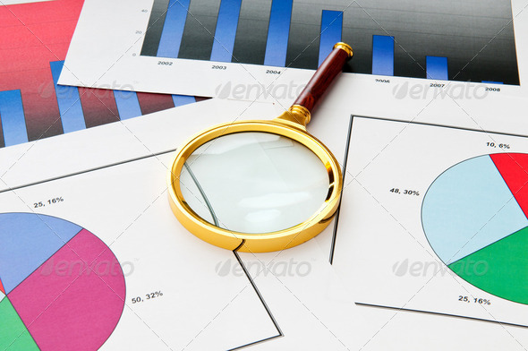 Business concept with charts - Stock Photo - Images