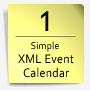 Simple XML Event Calendar - ActiveDen Item for Sale