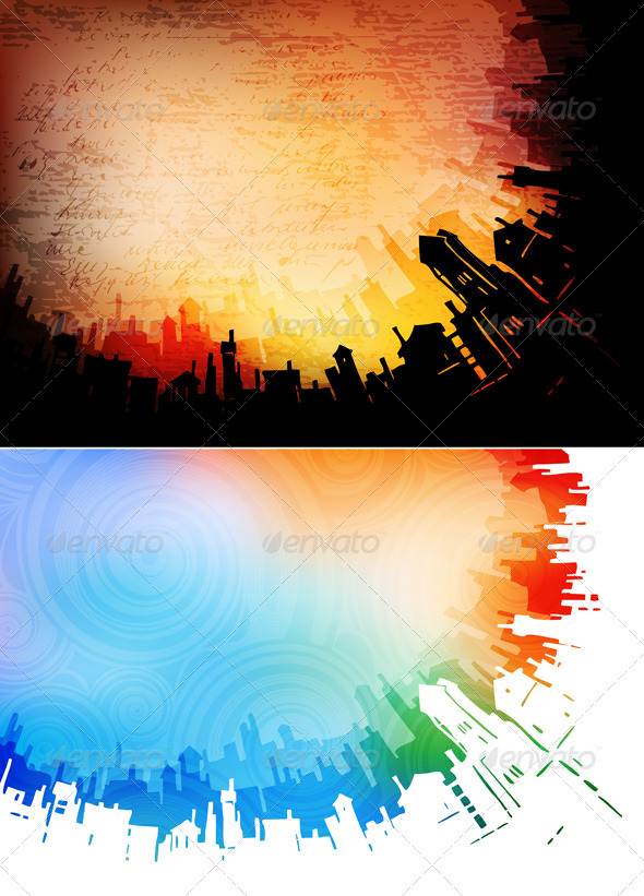GraphicRiver Urban backgrounds 3275162