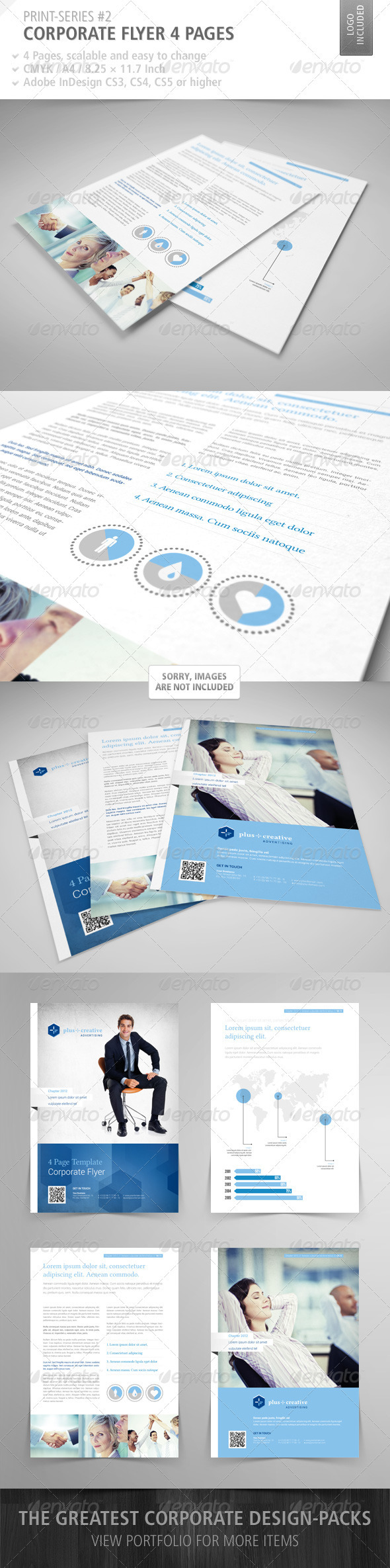 GraphicRiver Corporate Flyer 4 Pages Print-Series #2 3199596