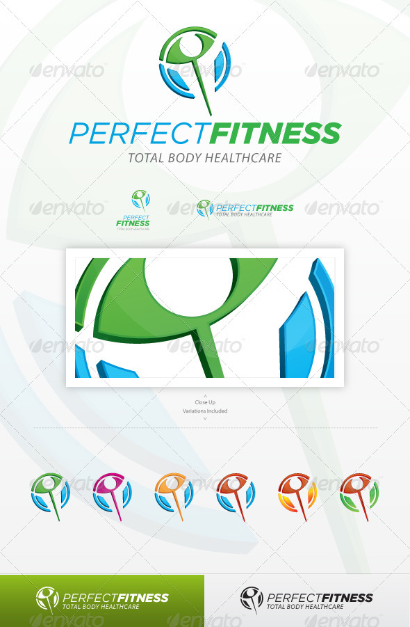 Perfect Fitness - Symbols Logo Templates