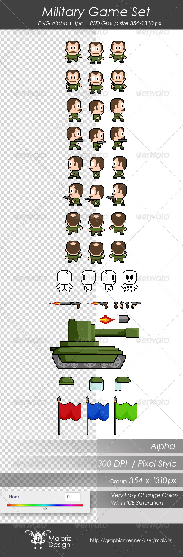 GraphicRiver Military Game Set 3261413