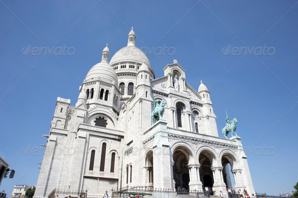 France,Paris,Basilique Du Sacre Coeur - Stock Photo - Images