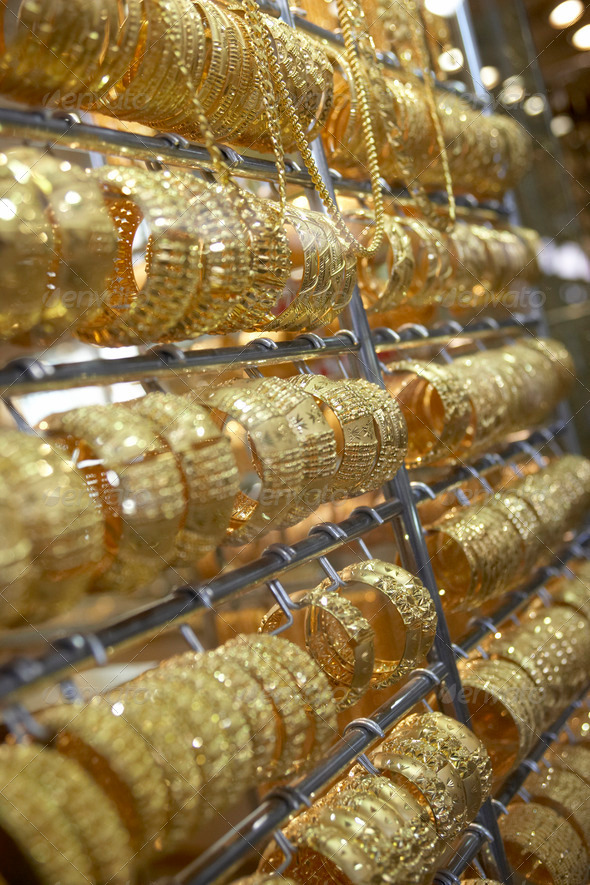 Dubai,Gold Souk - Stock Photo - Images