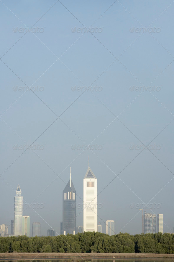 Dubai City Skyline - Stock Photo - Images