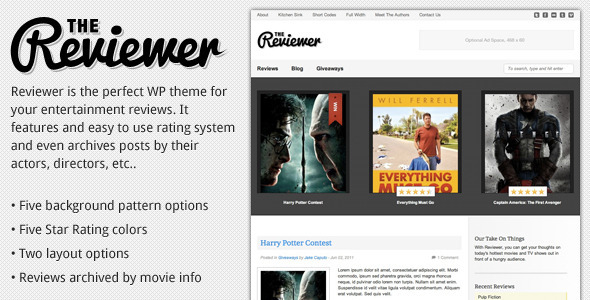 Reviewer - WP Theme for Entertainment Reviews - ThemeForest