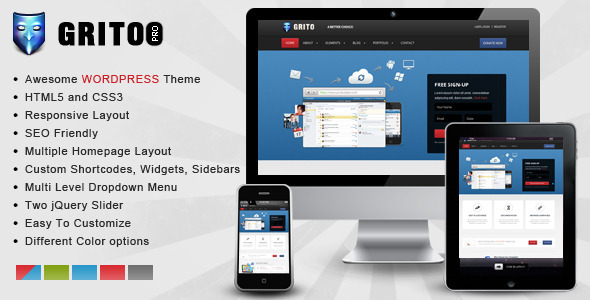 Gritoo – Wordpress Responsive Theme - Creative WordPress