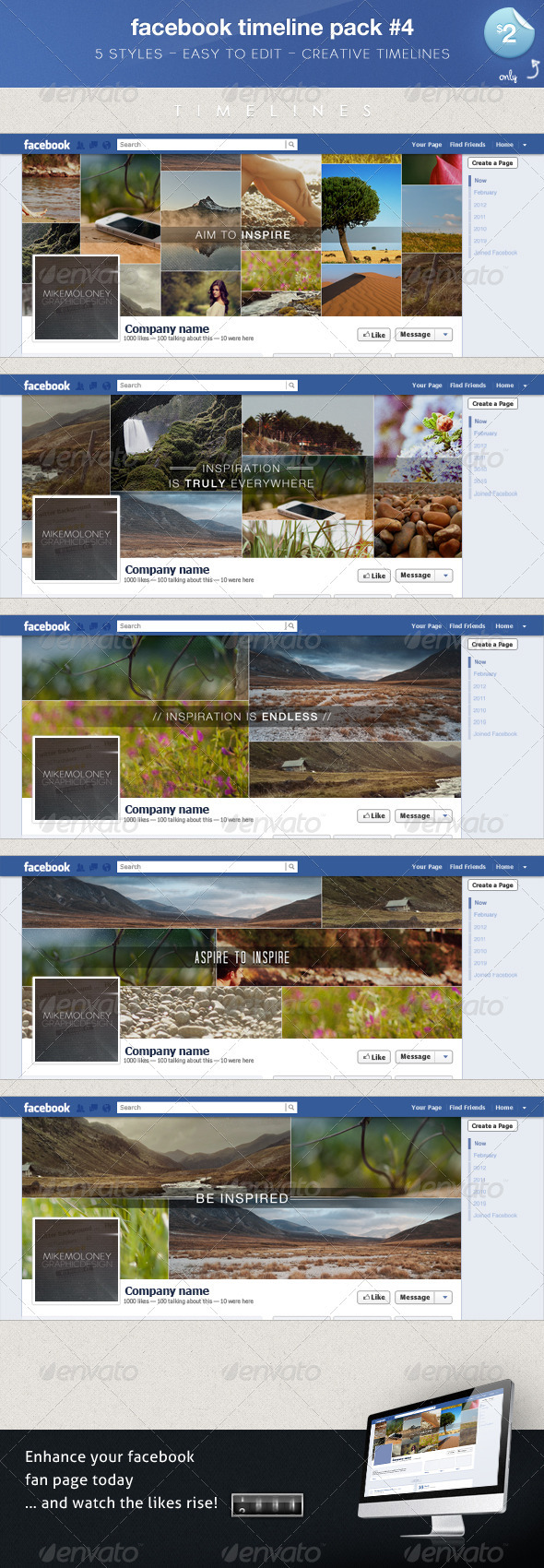 GraphicRiver Minimal FB Timeline Covers 3264676