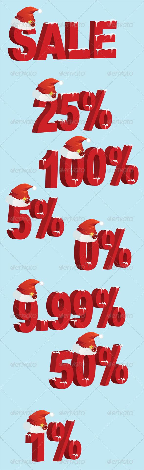 GraphicRiver Christmas Price Tag 3280391