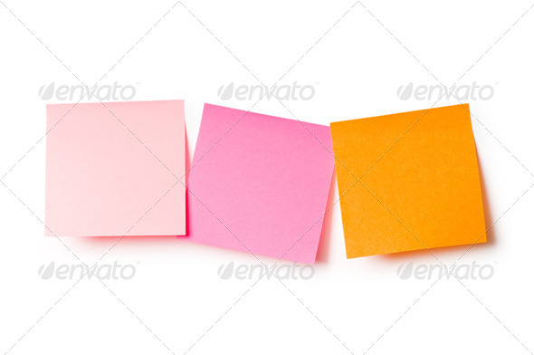 Reminder notes isolated on the white background - Stock Photo - Images