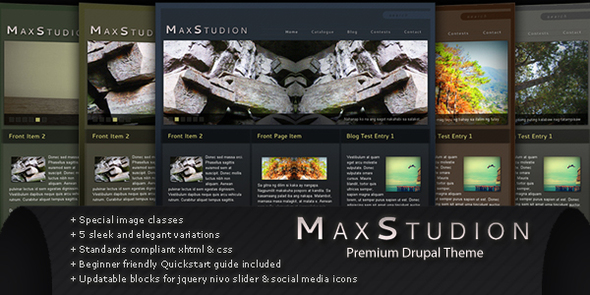 ThemeForest MaxStudion for Drupal 6.17 & 115375