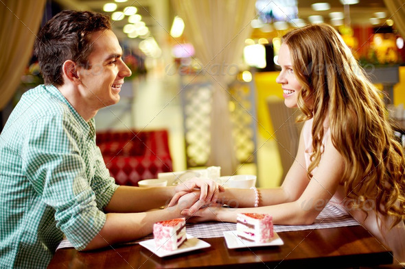 Couple in restaurant - Stock Photo - Images