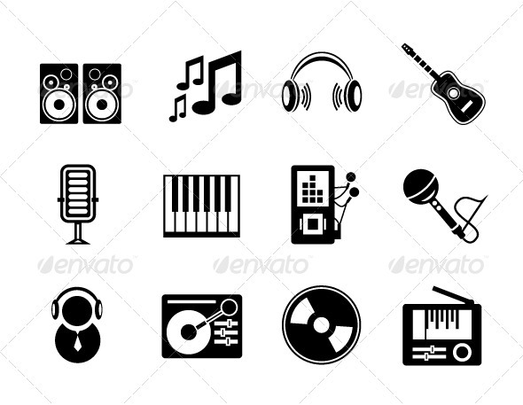GraphicRiver Vector Music Icons 3281383