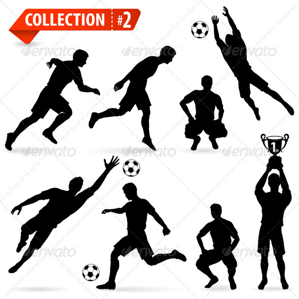 GraphicRiver Silhouettes Football Players 3281517