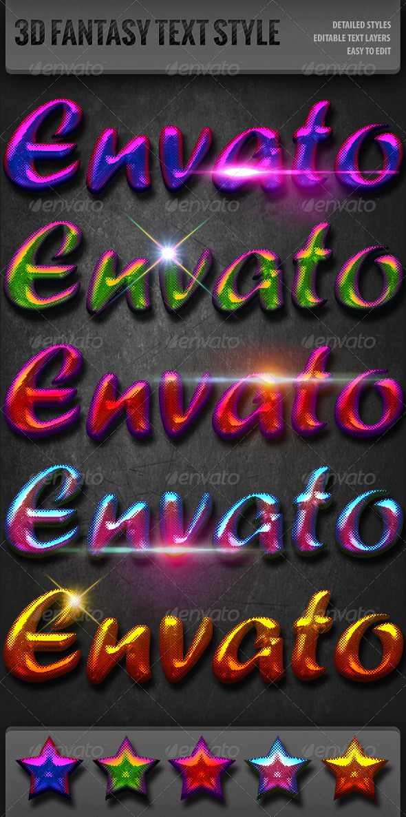 GraphicRiver Fantasy 3D Text Styles 3281958