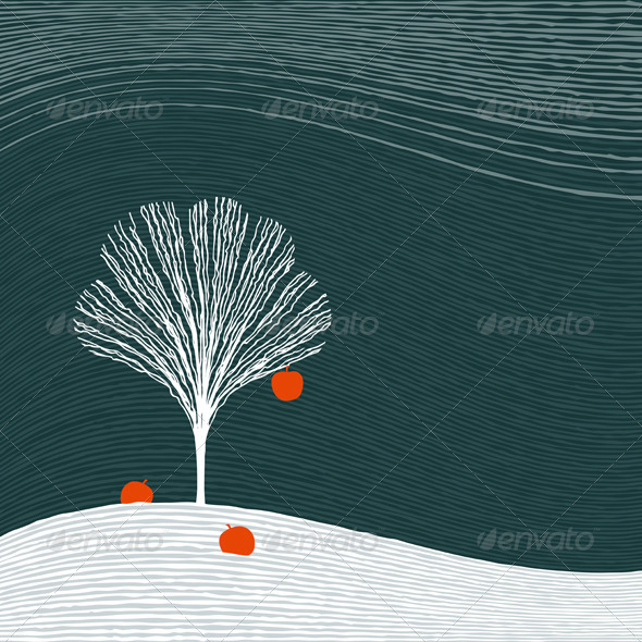 GraphicRiver Winter Aapple Tree 3282285