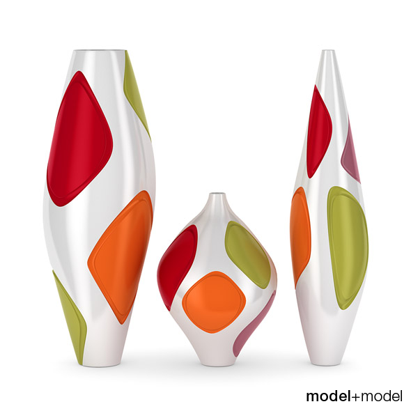 Fosceramiche Naum vases - 3DOcean Item for Sale