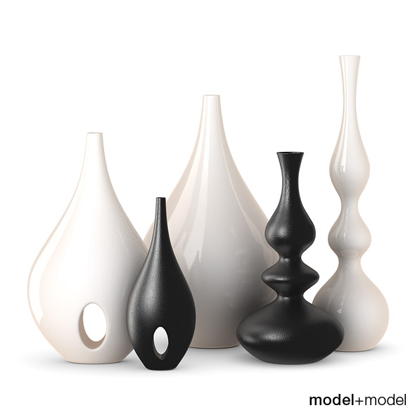 Rochebobois Minsk & Bulb vases - 3DOcean Item for Sale