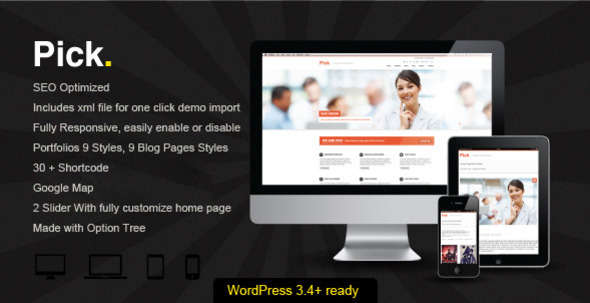 ThemeForest Pick WP Responsive Theme 3204019